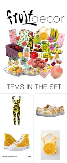 """Fruit decor"" by cherry-sprinkles ❤ liked on Polyvore featuring art and fruitdecor"