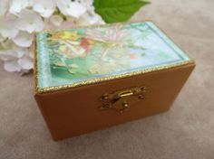 Small jewel box made of wood with fairy girls by Schmucktruhe, €14.50