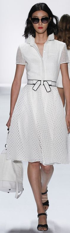 Badgley Mischka Spring/Summer 2016 Ready-To-Wear New York Fashion Week New York Fashion, Runway Fashion, Spring Fashion, Fashion Show, Style Fashion, Fashion Trends, Short Dresses, Summer Dresses, Little White Dresses