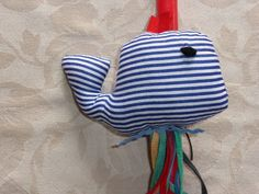 Handmade Easter Candles for Girls and Boys. Mobile Whale made by cloth. Cost 12€/piece.