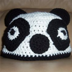 Panda Bear Crochet Hat https://www.facebook.com/KatfishcokeHandmadeCrochet