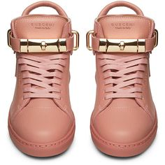 Buscemi Womens 100mm Flat Rosa Leather (£830) ❤ liked on Polyvore featuring shoes, real leather shoes, flat shoes, leather shoes, leather flat shoes and genuine leather shoes