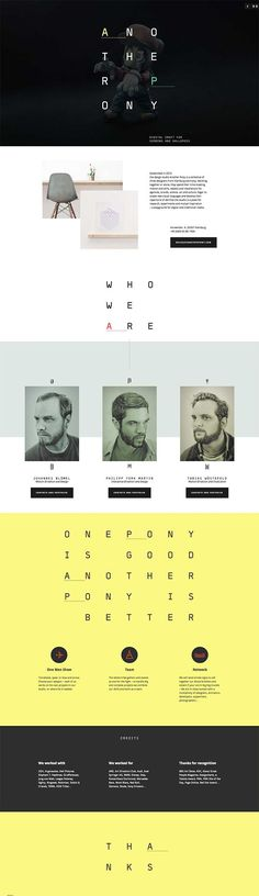 We're loving this unique Web Design, Another Pony via Лемешев Сергей #Web #Design #Typography