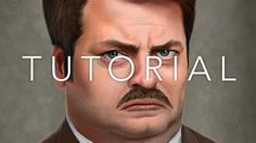 Cinema 4D Tutorial - Grooming Ron Swanson's Mustache