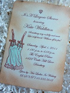 vintage lingerie shower invite