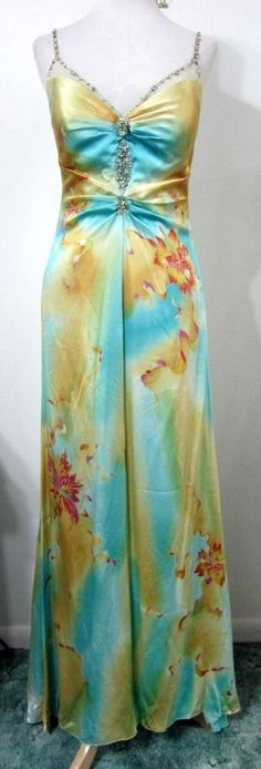 ALBERTO MAKALI 6 Formal Dress Evening Gown PROM Pageant Train Beaded MINT #AlbertoMakali #Formal