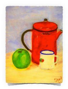 Coffee Time: Acrylics on Canvas Art of Creativity Studio Art Studios, Tea Pots, Art Projects, Studio Art, Canvas, Create, Artist, Artwork, Prints