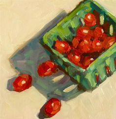 """Cherry Tomatoes"" - Original Fine Art for Sale - © Mary Sheehan Winn"