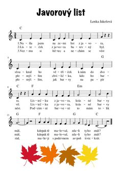 Kindergarten, Kids Songs, Elementary Schools, Sheet Music, Preschool, Education, Inspiration, Notes, Autumn