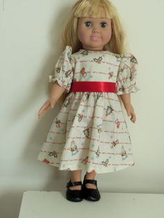 Christmas Dress For American Dolls by CarolinaDollClothes on Etsy