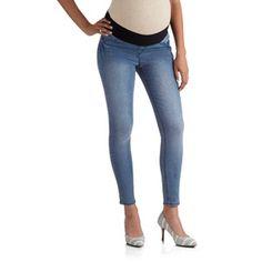 0d8ad37d221c9 Planet Motherhood - Maternity Demi-Panel Super Soft Skinny Jeans -  Walmart.com