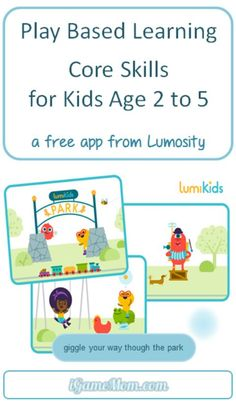 Free game app for toddler and preschoolers from Lumosity — play-based learning activities for kids core skills, such as cognitive, motor and social emotional skillsmosity Learning Apps, Play Based Learning, Early Learning, Preschool Activities, Kids Learning, Toddler Preschool, Toddler Activities, Ec 3, Emotional Development