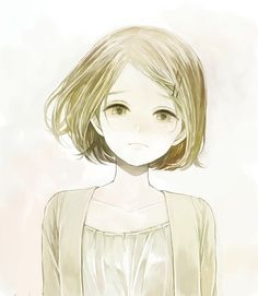 Anime picture 985x1132 with original yumi (pixiv) girl single short hair tall image blonde hair looking at viewer gre...