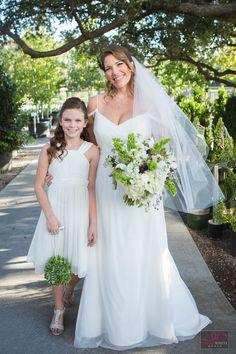 Bride and Flower Girl. A Beautiful Tulsa Wedding Oklahoma Wedding, Exotic Plants, Bridesmaid Dresses, Wedding Dresses, Perfect Place, Wedding Decorations, Flower, Garden, Unique