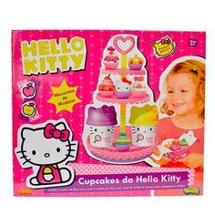 Solte sua criatividade com a massa de modelar da Hello Kitty - Sunny, que além de tudo traz o formato de cupcakes. Muito legal, né?!