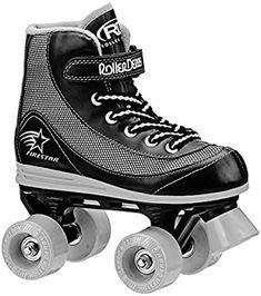 Amazon.com : Roller Derby 1378-02 Youth Boys Firestar Roller Skate, Size 2, Black/Gray : Sports & Outdoors Best Roller Skates, Outdoor Roller Skates, Kids Roller Skates, Roller Derby Skates, Roller Derby Girls, Kids Skates, Roller Skating, Luxury Kids Clothes, Skate 4