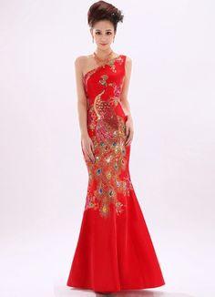 Full-length Cheongsam / Qipao / Chinese Wedding Dress