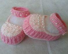 Sapatilha de crochê -Mirian