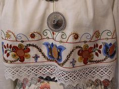 This costume is from Northeast Estonia, a place called Iisaku. Detail of blouse