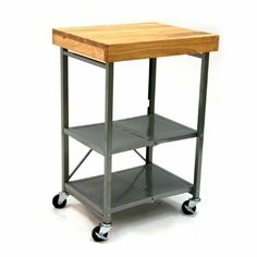 Amazon.com - Origami Folding Kitchen Island Cart - Silver - Kitchen Storage Carts