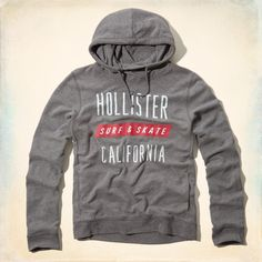 Hollister Men's Nicholas Canyon Beach Hoodie Grey Size M – FashionFest
