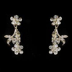 Dangle Swarovski Crystal Dangle Necklace & Earrings Jewelry Set 7206