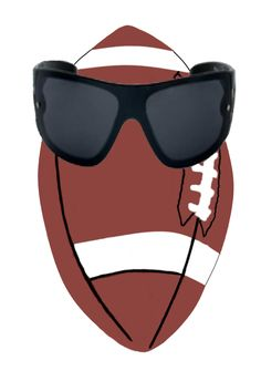 Football chillin! This guy can be used in a variety of ways during the football season with or without the glasses.