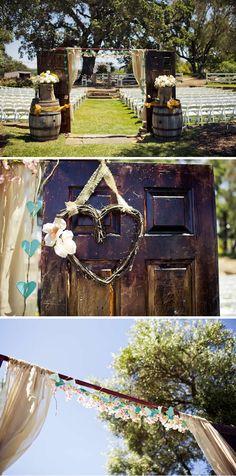 Sweet Summer Ranch Wedding in California Cute Wedding Ideas, Diy Wedding, Rustic Wedding, Wedding Ceremony, Wedding Venues, Dream Wedding, Wedding Day, Wedding Inspiration, Wedding Stuff