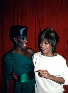 Grace Jones and Tina Turner 1984