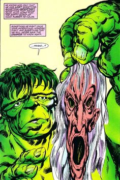 The Hulk discovers Scourge's mask.