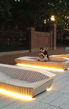 The Humble Public Bench Becomes Comfortable, Inclusive, and Healthy