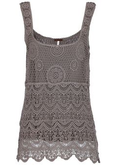 Brown Plain Round Neck Wrap Lace Vest