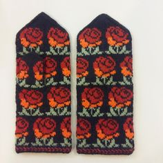 Traditional Latvian mittens Tines wool woman S M ethnographic folk | eBay