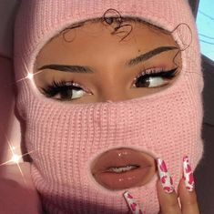 """Robbing a bank but make it pink fashion 🖕🏽🎀 """"AMBER"""" lashes by (Eyes: """"Barbie"""" eyeshadow quad, dc:… Girl Gang Aesthetic, Boujee Aesthetic, Badass Aesthetic, Black Girl Aesthetic, Aesthetic Collage, Aesthetic Pictures, Aesthetic Makeup, Rosa Style, Flipagram Instagram"""