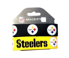 42f09d40b Pittsburgh Steelers Rubber Wrist Band Set of 2 NFL by aminco.  8.95. Show  your