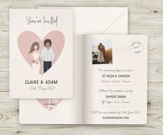 Personalised Portrait Wedding Invitations  #Personalised #Portrait #Wedding #Invitations Wedding Stationery, Wedding Invitations, Passport Travel, Warehouse Wedding, Travel Themes, Table Plans, Big Day, Place Cards, Rustic