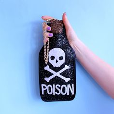Hey, I found this really awesome Etsy listing at https://www.etsy.com/listing/234456228/glitter-poison-bottle-clutch-handbag