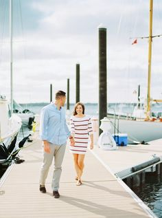 Brittany and Gary's Nautical Newport Rhode Island Engagement Photos on The Newport Bride