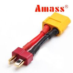 Amass XT60 Female To T Plug Male Battery Adapter Cable 14AWG 3cm