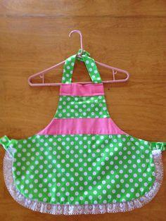 Little girl polka dot apron