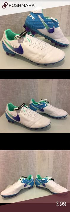 new products ca7f4 a1082 NIKE TIEMPO LEGEND VI AG-R WOMENS SOCCER CLEATS NWOB NIKE TIEMPO LEGEND VI  AG-R WOMENS SOCCER CLEATS WHITE BLUE 827249-155 Nike Shoes Athletic Shoes
