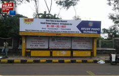 We done campaign for ''Study Point Tutorial'' bus shelter at Kharghar.