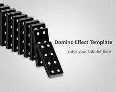 Free Domino Effect PowerPoint template is a free PPT template that you can download for Microsoft PowerPoint 2010 and 2013 to make awesome business presentations using the domino effect metaphor.