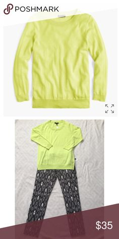 NWT J. Crew Tippi Sweater NWT | J. Crew Tippi Sweater | Neon Citron | Small | merino wool | bracelet sleeves | rib trim at neck, cuffs and hem | semi fitted | hits at hip | BRAND NEW J. Crew Sweaters