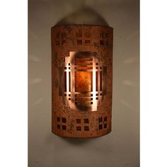 Copper Brick One-Light 14-Inch Tall Dark Sky Outdoor Wall Sconce
