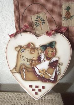 Ginger Heart  Painting Pattern       instant by Paintingonjars, $6.00
