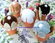Curious Little Bunny potten / grillige decoratie / door DoesMeadow