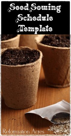 Reformation Acres: ~Seed Sowing Schedule {and a Template}~
