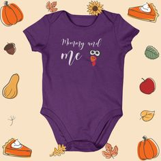 Mommy and me Cute Turkey Thanksgiving baby onesie kids clothes boy girl Thanksgiving Baby, Kids Clothes Boys, Boy Onesie, Mommy And Me, Daddy, Cute, Fashion, Moda, Fashion Styles