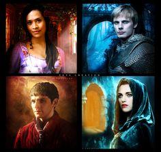 Merlin, Arthur ,gwen and morgana (collage) by ektapinki